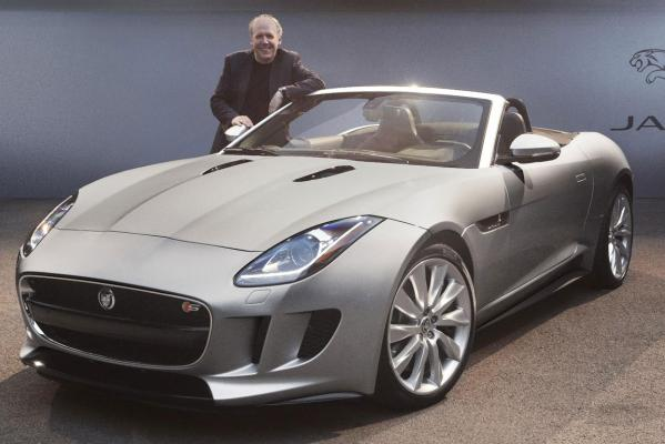 Jaguar's design director Ian Callum with the F-Type, named world car design of the year.