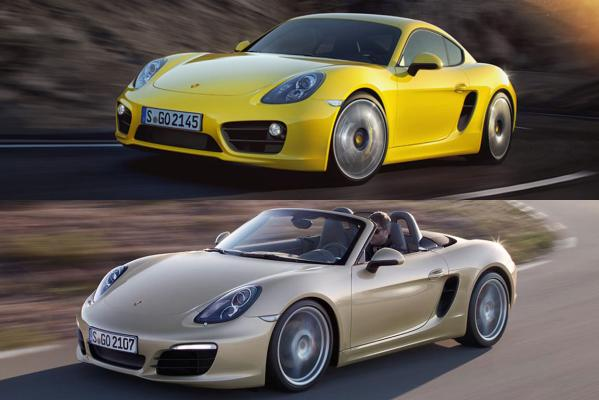 Porsche's Cayman S (top) and Boxster S have been named world performance cars of the year.