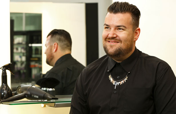 """HAIR TODAY: Wellington Fashion Week hair director Michael Beel says the key to a successful show is preparation. He has just come back from London Fashion Week, where the look is """"groomed and slick""""."""