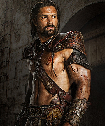 UNDEFEATED: Manu Bennet plays bad-ass champion gladiator Crixus in Spartacus.