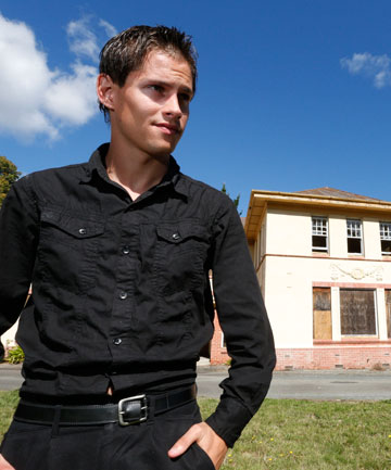 NO FUN ZONE: Shane Casbolt and three friends were arrested seeking a scare inside the old Ngawhatu hospital.