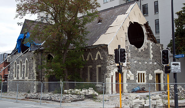 ON BORROWED TIME: The former Trinity Church will go back on the market this week after a failed bid to get investors for the restoration. If no buyer comes forward, demolition may be the only option for the former Trinity Church.