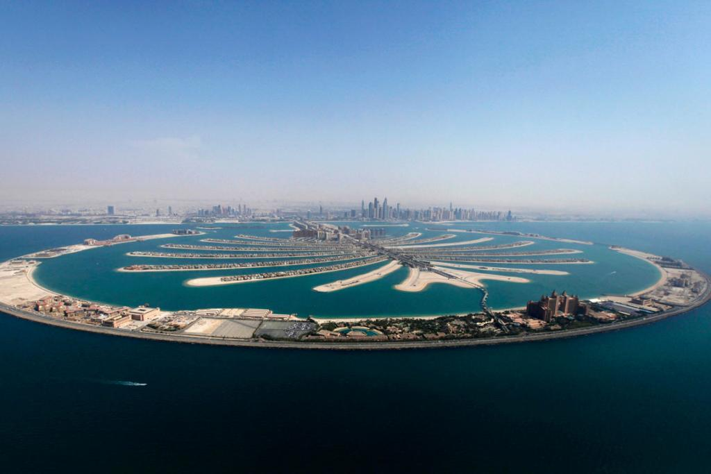 An aerial view of The Palm Jumeirah.