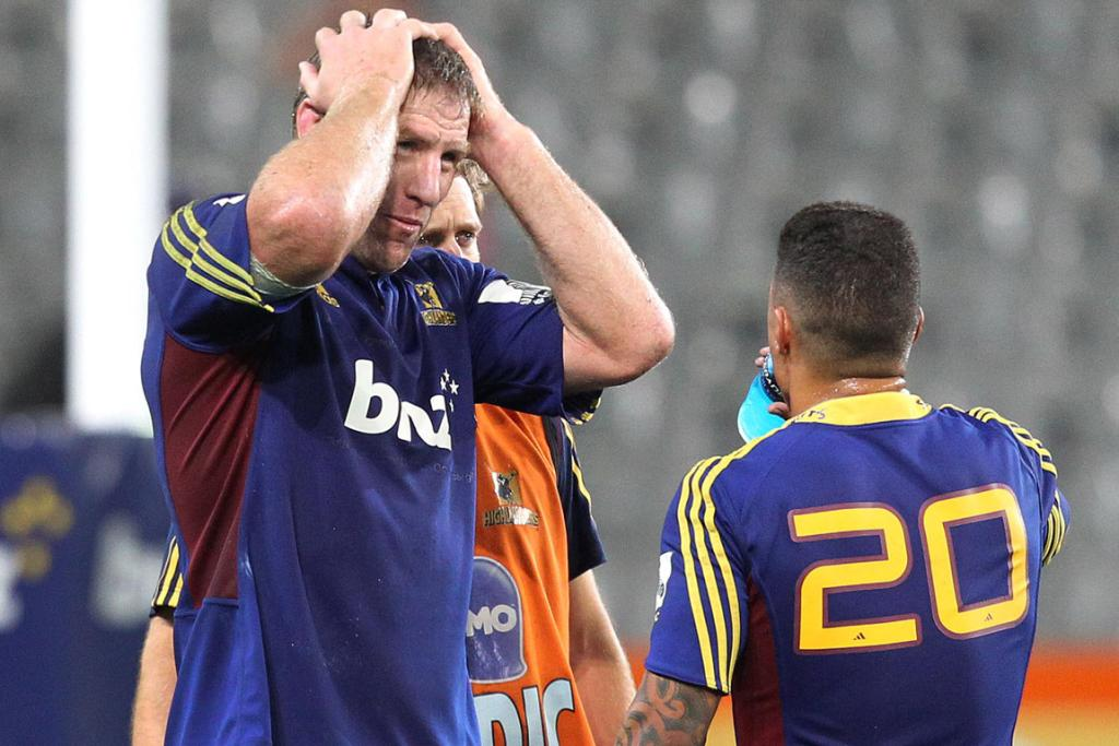 Brad Thorn shows his disappointment after the loss to the Brumbies.