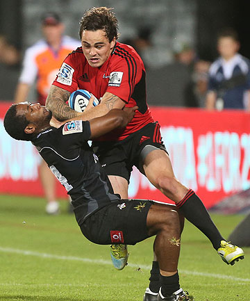 ZAC ATTACK: Zac Guildford in action for the Crusaders against the Kings.