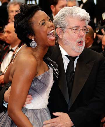HEADING FOR THE ALTAR: George Lucas and Mellody Hobson