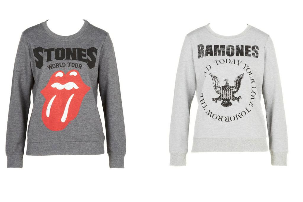 1. Glassons Rock Sweaters (100% cotton), $49.99: Our teen expert confirms that it's still much cooler to wear an 'old band' than a 'new band' on your chest.