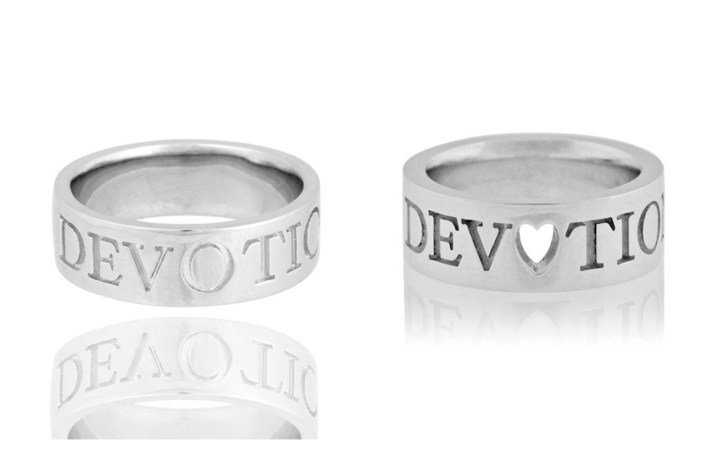 5. Boh Runga Devotion Rings: To complete the groupie look you'll need at least a little bit of metal. Who's more qualified to design a suitable muscle-y ring, than muso Boh Runga? Her Devotion rings for New Zealand Mint for him and her are $261 and $256 respectively.