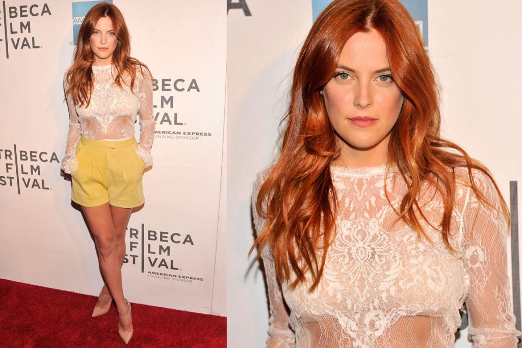 THE BEST (the smart-casual edition): Elvis Presley's granddaughter Riley Keough shows us how to make sheer panels and short-shorts classy. I'm obsessed with her new red hair - it's like Christina Hendricks-meets-Gisele Bundchen. Rock'n'roll royalty showing us how it's done.