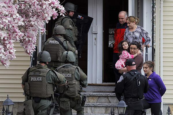 Residents are asked to leave their home as SWAT teams conduct a house to house search for Dzhokar Tsarnaev, the one remaining suspect in the Boston Marathon bombing.