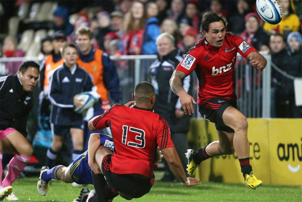Zac Guildford chases after the loose ball.