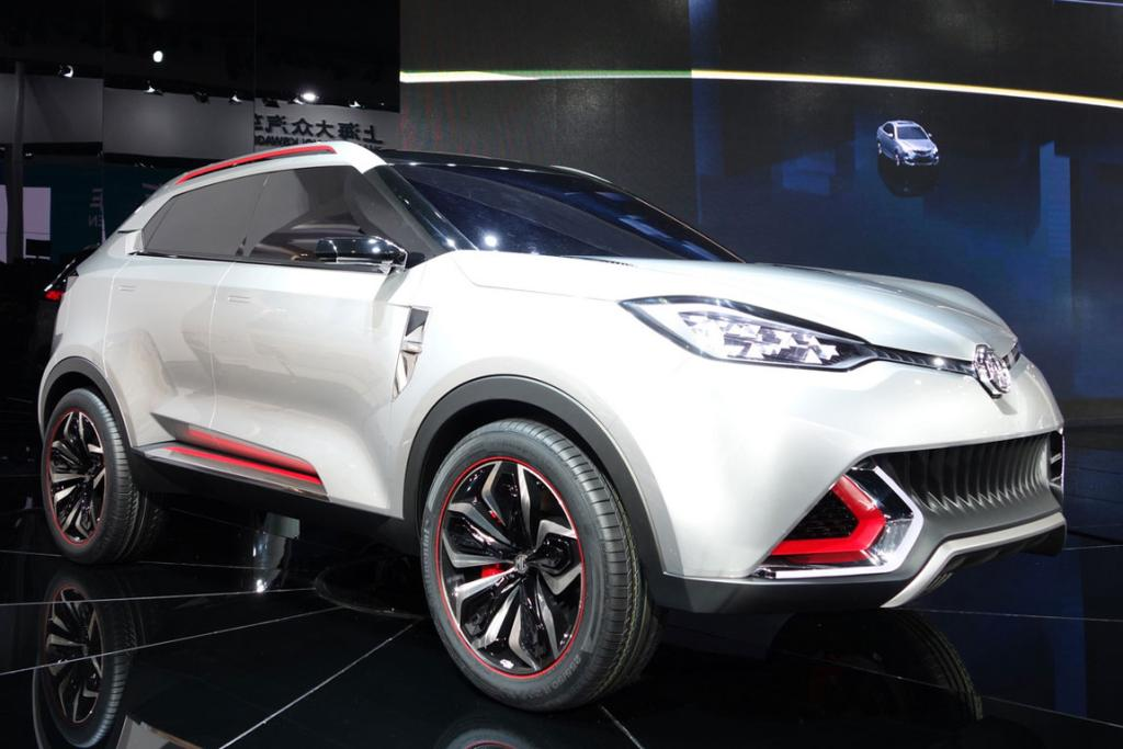 MG CS Concept is unveiled at the Shanghai motor show.