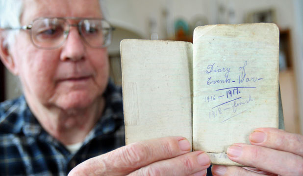 Private Arthur Robert Quedley's World War One diary