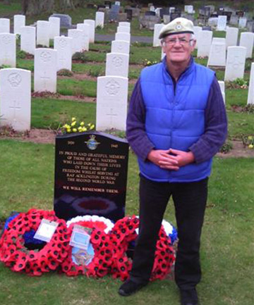 RESPECT AND HONOUR: Englishman Ian McArthur, whose daughter lives in Stoke, attended a special Anzac ceremony in England to pay his respects to New Zealanders killed in action.