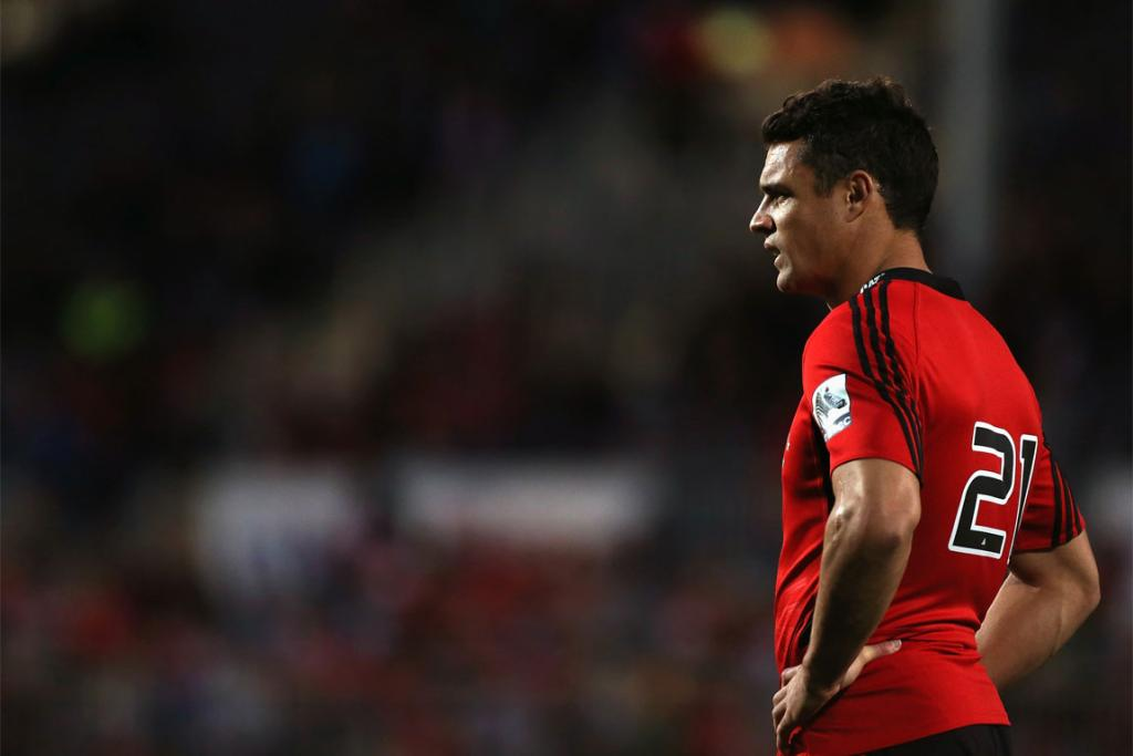 Dan Carter made his return to action for the Crusaders against the Rebels.