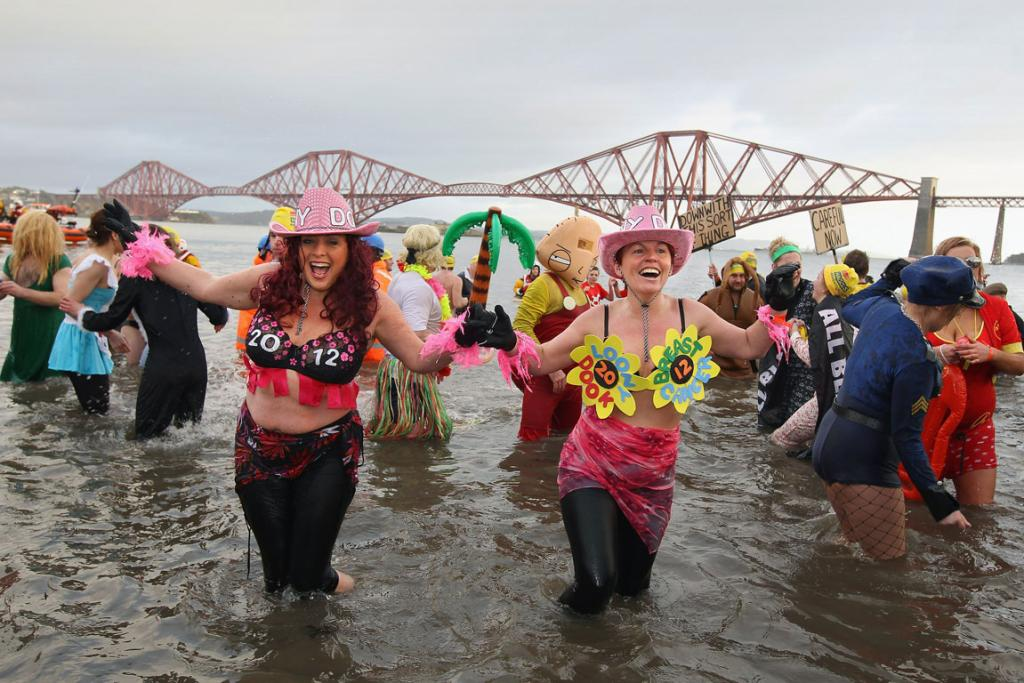 Thousands of people gathered at Hogmanay celebrations in towns and cities across Scotland.