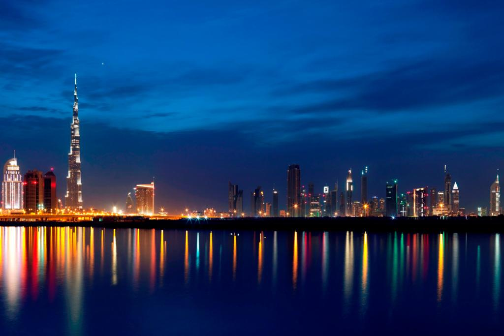 Dubai city by night