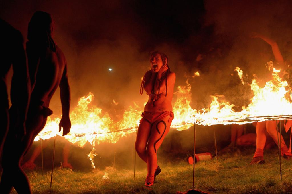 The event is a revival of the ancient Celtic and Pagan festival of Beltane