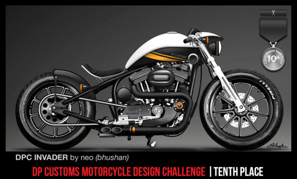 One of the top entries in Local Motors and DPC Motorcycles crowd-sourced motorcycle design competition.