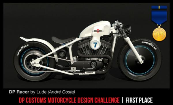 The winner of the Local Motors and DPC Motorcycles crowd-sourced motorcycle design competition.