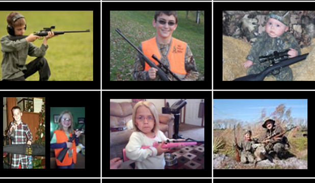 "The company that makes the rifle, Keystone Sporting Arms, has a ""Kids Korner"" section on its website."
