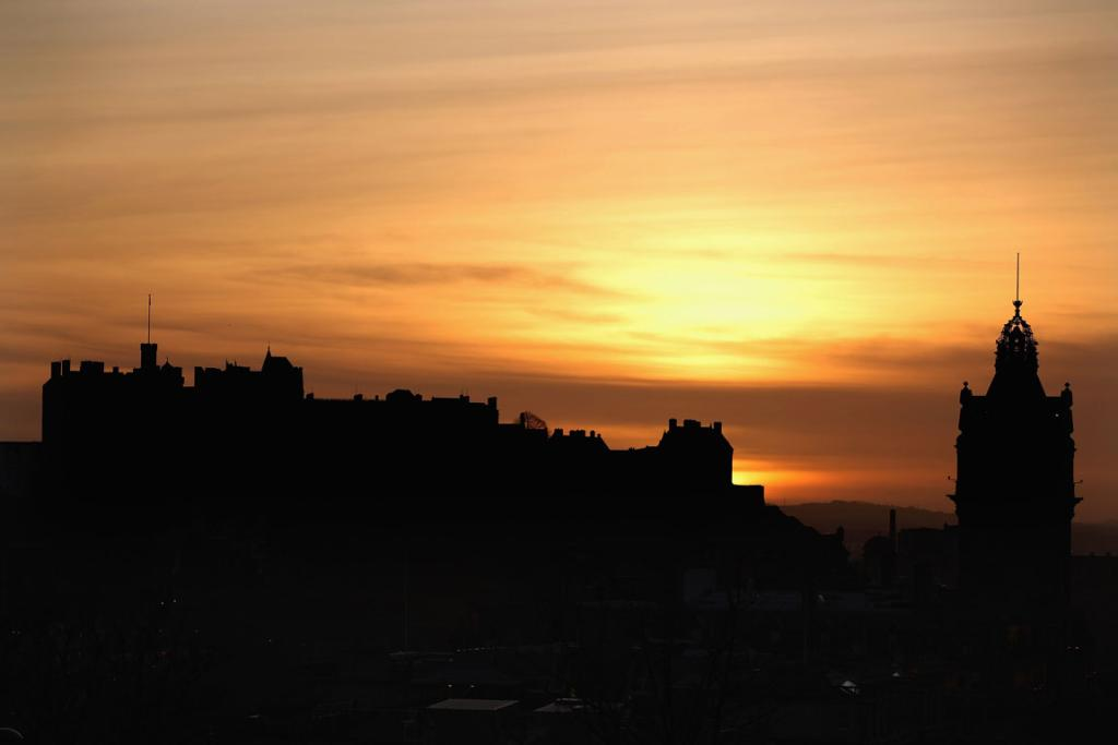 A general view of Edinburgh Castle in the evening light.
