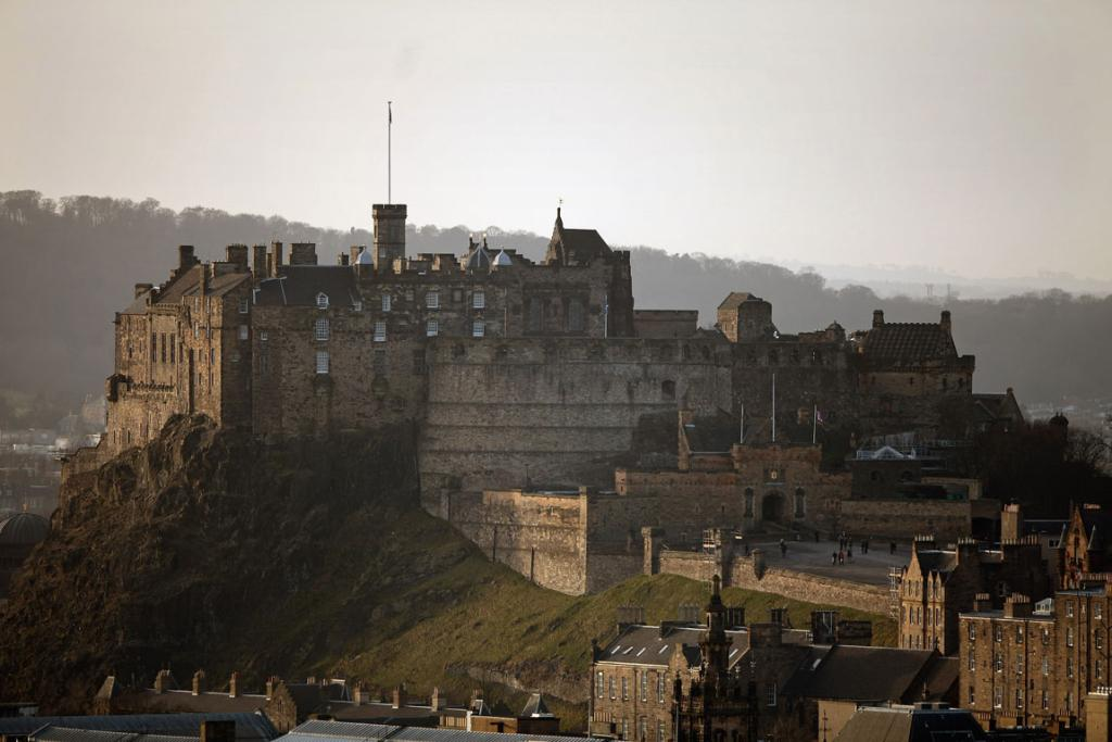 Edinburgh Castle dominates the city skyline was built on top of an extinct volcano, and has had a human settlement on the castle site since 900BC.