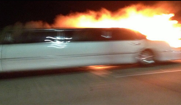 FATAL FIRE: Four women managed to escape the fire in the limousine.
