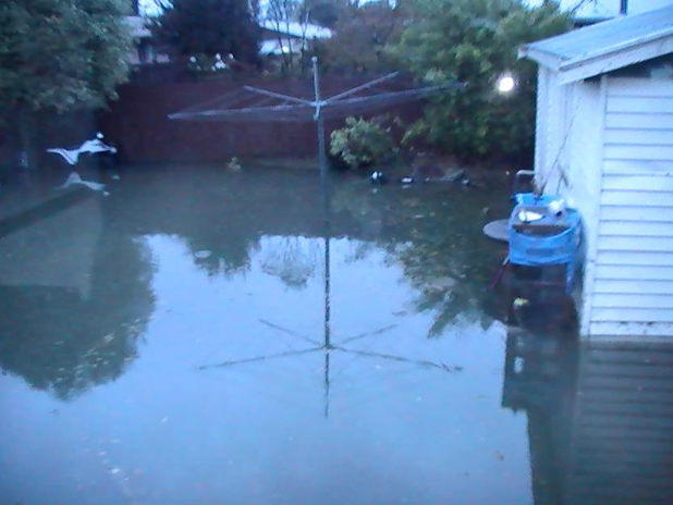 Backyard flood