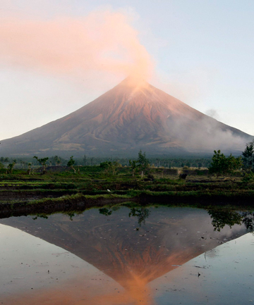 Mayon volcano has not erupted for three years.