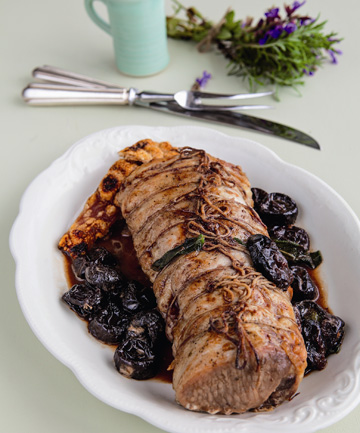 Roasted loin of pork with prunes | Stuff.co.nz