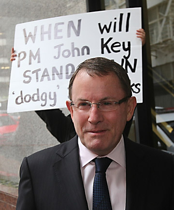 COURT DATE: ACT leader John Banks arrives at the Auckland District Court to face electoral fraud charges.