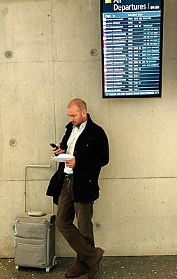 Simon Cooper at Christchurch airport