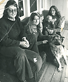 ANNIVERARY: Dianne Shannon (middle) and Rosemary Howard (far right) on the deck of New Zealand's first refuge in 1973.