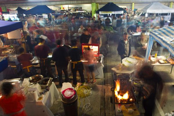 Hamilton's night market.