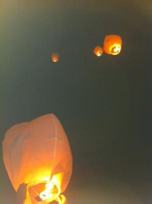 Wish lanterns, May 11, 2013