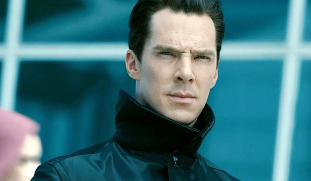 Benedict Cumberbatch as the enigmatic villain in Star Trek Into Darkness.