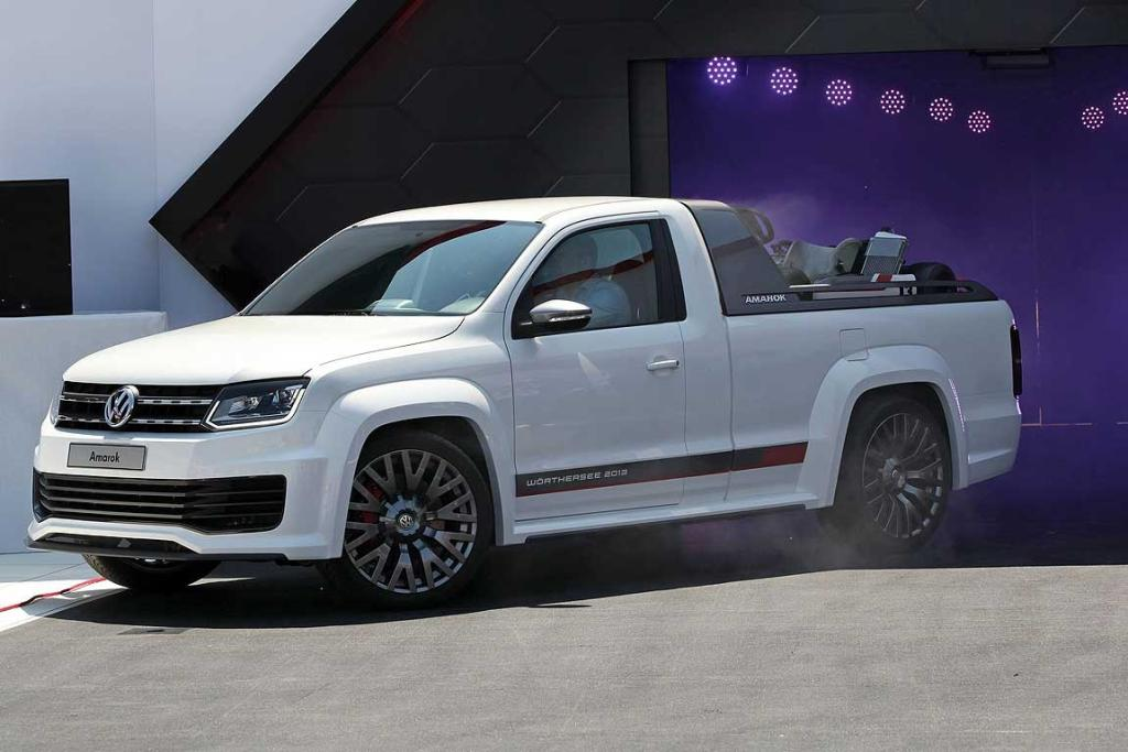 Volkswagen's grunty Amarok ute that was unveiled at Wothersee 2013.
