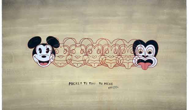 Dick Frizzell's  painting Mickey To Tiki Tu Meke