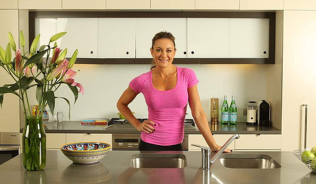 CLEAN AND LEAN: Michelle Bridges in her home kitchen.