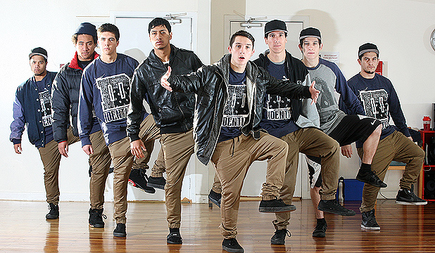 Stepping up: Dance crew Identity will represent New Zealand at the World Hip-Hop Dance Championships in Las Vegas in August. From left: Chevy Mikaere, Ahutoa Lanefale, Cameron Cranston, Ahutoa Lanefale, Josh Cesan, James Tautuku, Andrew Cesan and Richie Cesan.