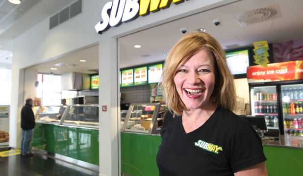 Super sub: Former TV host Mary Lambie is now an award-winning food franchise owner.