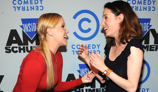 YOU LOOK GREAT: Amy Schumer and Jesi Klein trade compliments.