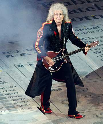 VILE: Queen guitarist Brian May hopes talent show The Voice will die soon.
