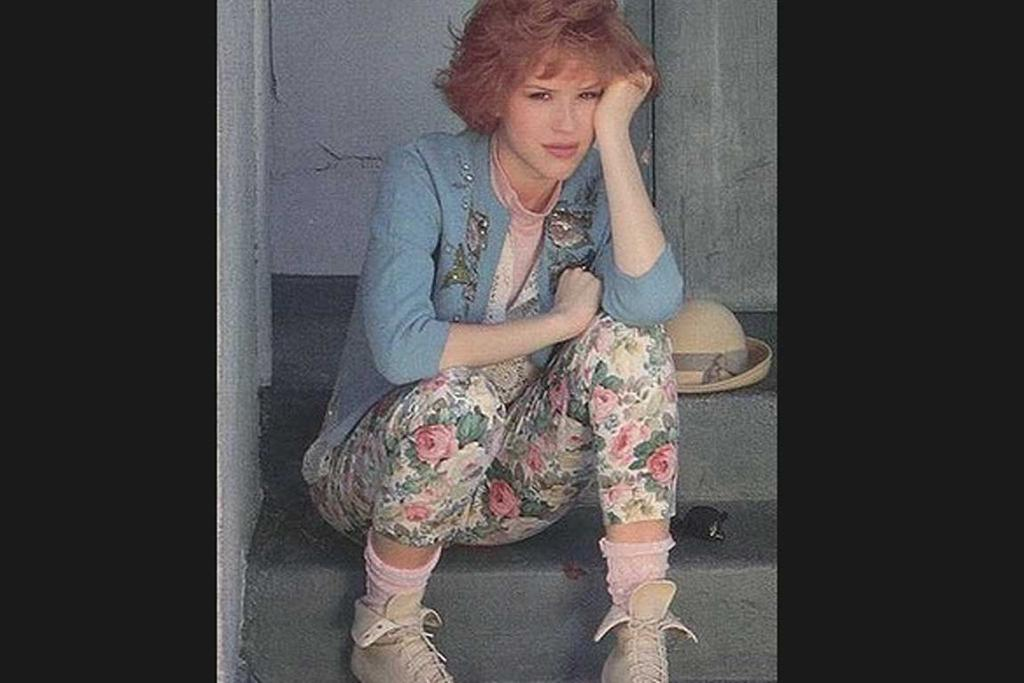 When she foresaw the floral jeggings trend.