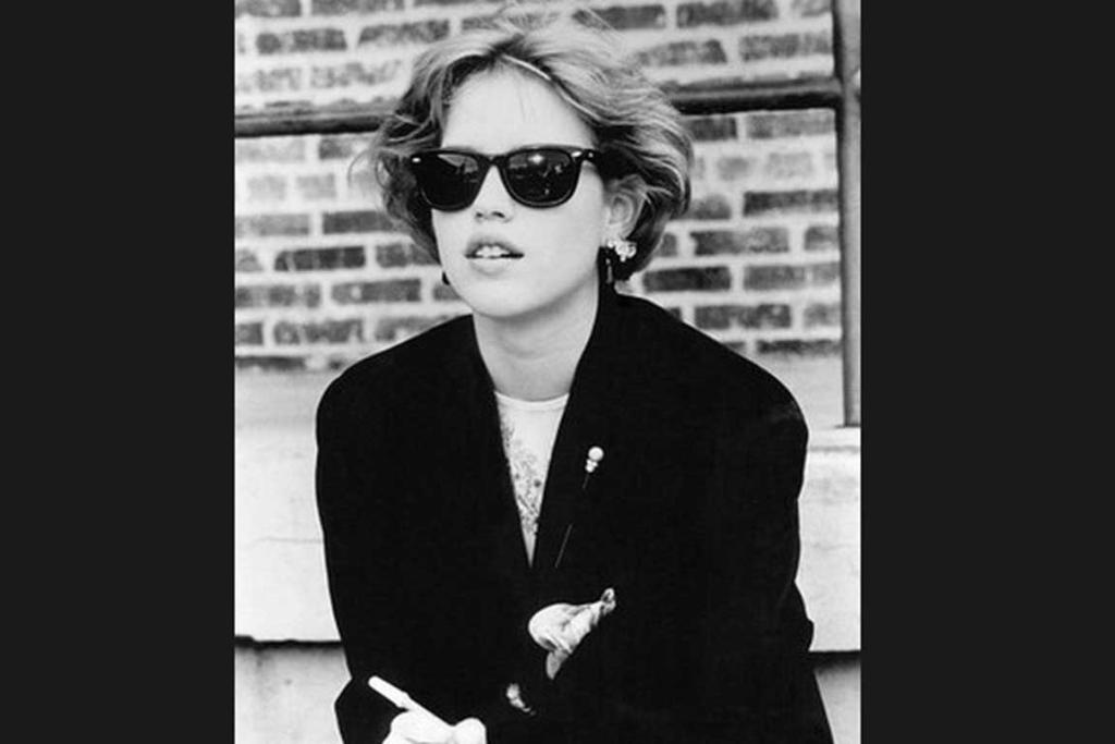 Whenever she wore Ray Bans.