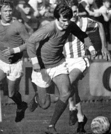 ONE OF A 'HOLY TRINITY': Manchester United's George Best playing against an Auckland selection in 1967.