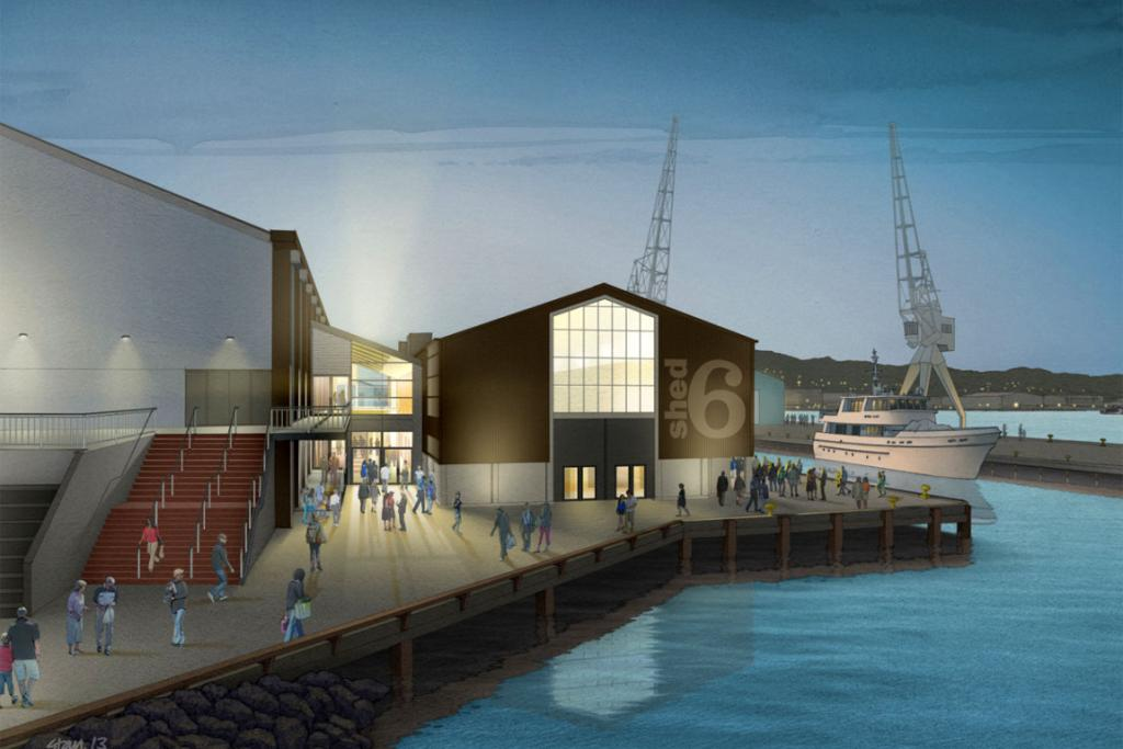 Artists' impressions of how the new Shed 6 will look.