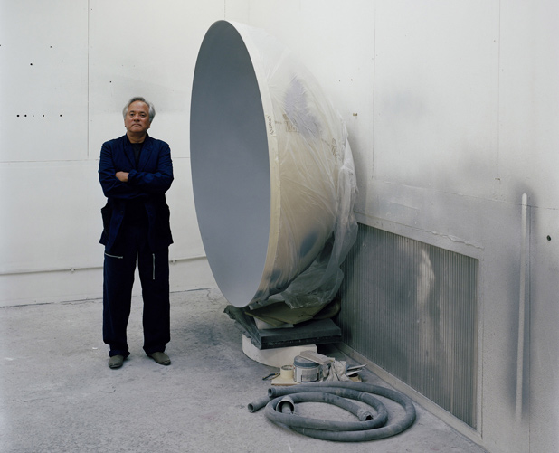 PORTRAIT OF THE ARTIST: Sculptor Anish Kapoor stands by one of his installations at Berlin's Martin Gropius Bau.