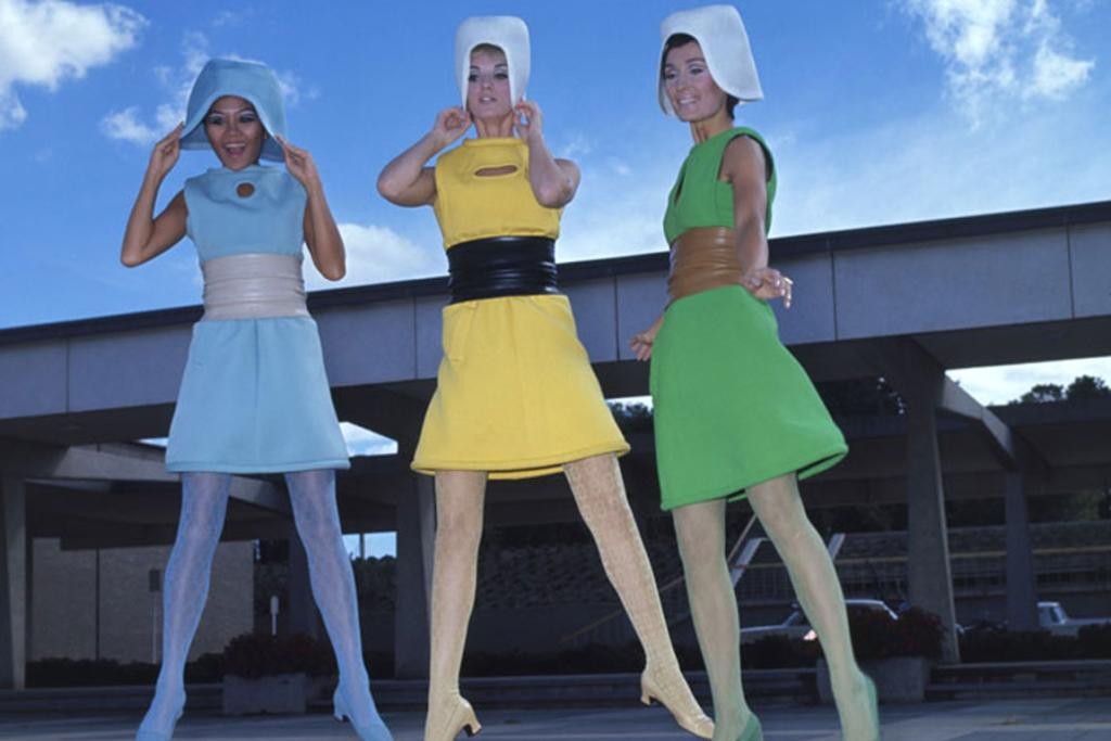 Pierre Cardin fashion parade at the Canberra Theatre Centre, 1967.